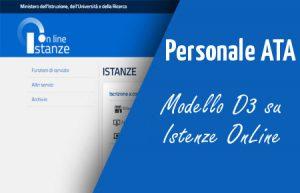Modello D3 Personale ATA a Marzo la probabile Compilazione