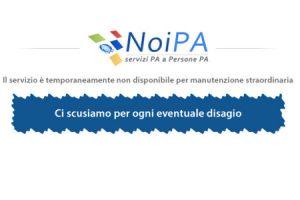 NoiPa Login non disponibile, il sito Offline per aggiornamenti