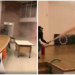 Acerra: si riprendono mentre vandalizzano e distruggono una scuola media (Video)