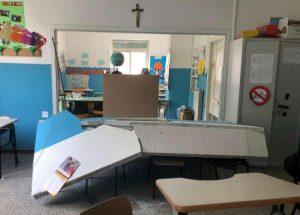 Catania: crolla il soffitto a scuola, tragedia sfiorata il crollo è avvenuto di notte