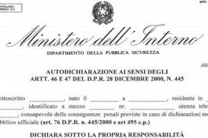 Nuova Autocertificazione Fase 2, dal 4 Maggio il Modello sul sito del Ministero