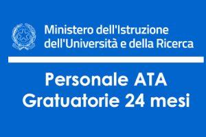 Bando ATA 24 Mesi: scelta sedi allegato G e pubblicazione Graduatorie