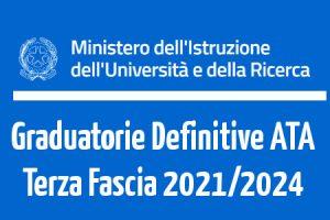 Graduatorie Definitive ATA Terza Fascia 2021, ecco le date di Pubblicazione